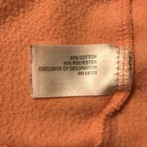 Tops - Orange-Pink Hooded Sweatshirt